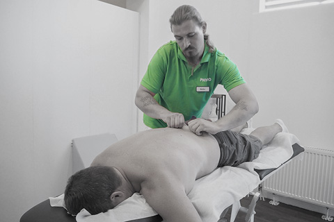 Bindegewebsbehandlung Sportpark Heppenheim Physiotherapie