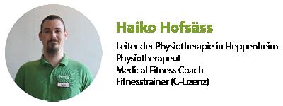 Haiko Hofsäss Physiotherapeut Heppenheim